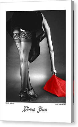 Glorious Gams - Seeing Red Canvas Print by Jerry Taliaferro