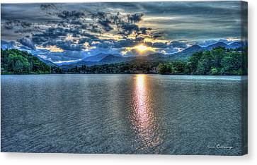 Glorious Lake Junaluska Sunset Blue Ridge Mountains North Carolina Canvas Print