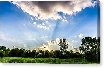 Canvas Print featuring the photograph Glorious Sky - B by Anthony Rego