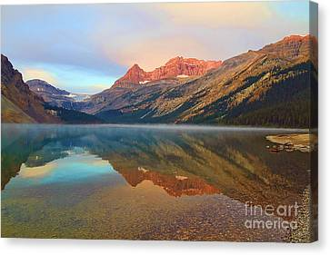 Glorious Sunset At Bow Lake Canvas Print