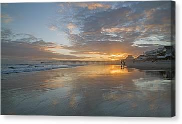 North Carolina Outer Banks Canvas Print - Glorious Sunset Island  by Betsy Knapp