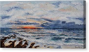 Glorious Sunset  Canvas Print by Tatjana Popovska