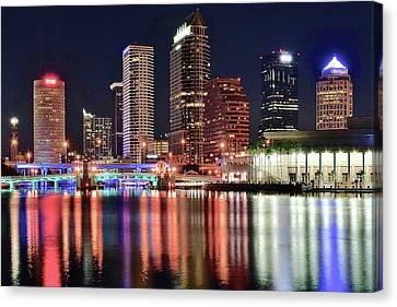 Glorious Tampa Bay Florida Canvas Print by Frozen in Time Fine Art Photography