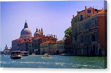 Canvas Print featuring the photograph Glorious Venice by Anne Kotan