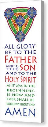 Glory Be Prayer Canvas Print by Lawrence Klimecki