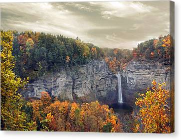 Glory Of Taughannock Canvas Print by Jessica Jenney