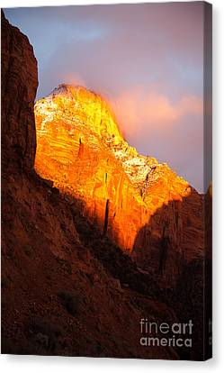 Glory Of Zion II Canvas Print by Irene Abdou