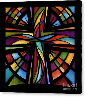 Canvas Print featuring the mixed media Glory To God by Shevon Johnson
