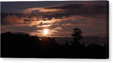 Canvas Print featuring the photograph Glory Train In The Sky by Diannah Lynch