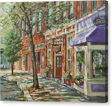 Gloucester Around Town Canvas Print by Sharon Jordan Bahosh