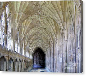 Gloucester Cathedral Cloisters Canvas Print by Nigel Fletcher-Jones
