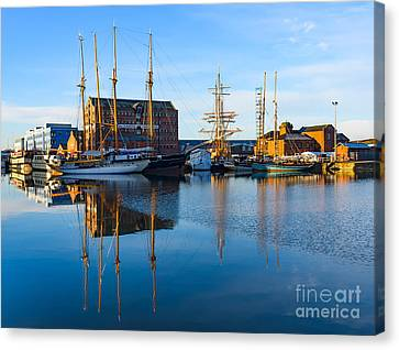 Canvas Print featuring the photograph Gloucester Docks by Colin Rayner