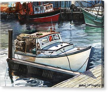 Gloucester Harbor Canvas Print by Michael McDougall