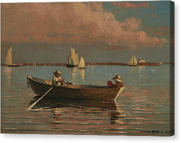 Gloucester Harbor Canvas Print by Winslow Homer
