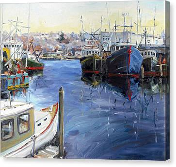 Gloucester Town Wharf Canvas Print by Chris Coyne