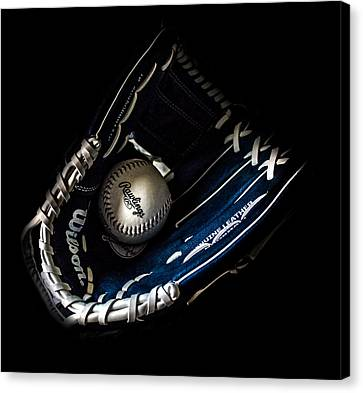 Glove And Ball Canvas Print by Martin Newman