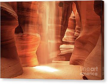 Glow - Antelope Canyon Canvas Print by Martin Williams