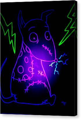 Glow Frankenweenie Sparky Canvas Print