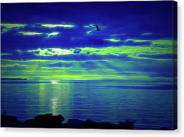 Glow In The Dark Heavenly Flight Canvas Print by Aimee L Maher Photography and Art Visit ALMGallerydotcom