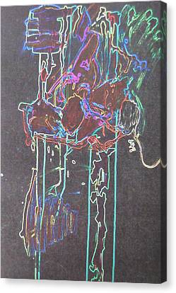 Daft Punk Canvas Print - Glow by Luci Ferguson