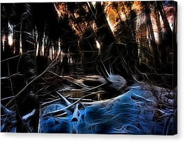 Glow River Canvas Print by Michaela Preston
