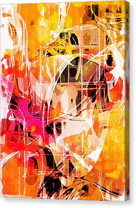 Glowing Abstract  Canvas Print by Tom Gowanlock