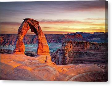 Usa Canvas Print - Glowing Arch by Mark Brodkin Photography