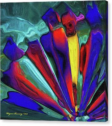 Glowing Chrystals Canvas Print by Wayne Bonney