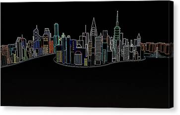 Glowing City Canvas Print by Thomas M Pikolin