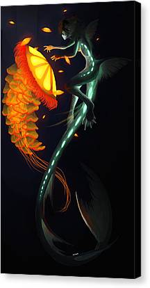 Glowing Depths Canvas Print by Nicki Lagaly