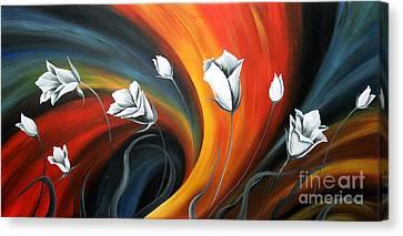 Glowing Flowers 5 Canvas Print by Uma Devi