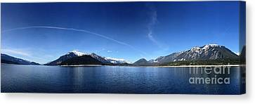 Canvas Print featuring the photograph Glowing In The Blue by Victor K