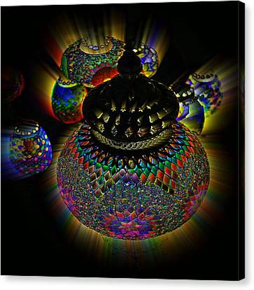 Glowing Lanterns Canvas Print