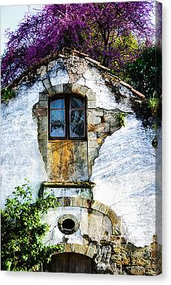 Canvas Print featuring the photograph Glowing Old Window In Portugal by Marion McCristall
