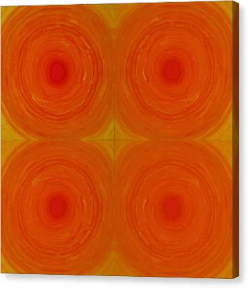 Glowing Orange Canvas Print