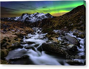 Cwm Idwal Canvas Print - Glowing Skies by Adrian Evans