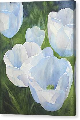 Glowing Tulips Canvas Print by Bobbi Price