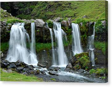 Canvas Print featuring the photograph Gluggafoss by Marilynne Bull