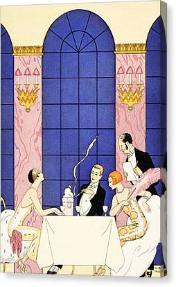 Gluttony Canvas Print by Georges Barbier