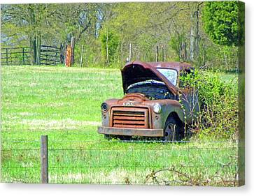 Canvas Print featuring the photograph Gmc Retired by Larry Bishop