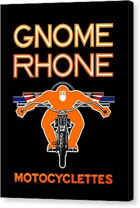 Gnome Rhone Motorcycles Canvas Print by Mark Rogan