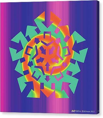 Abstraction Canvas Print - Gnomon by Eric Edelman