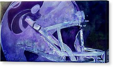 Canvas Print featuring the painting Go Cats by Jeffrey S Perrine