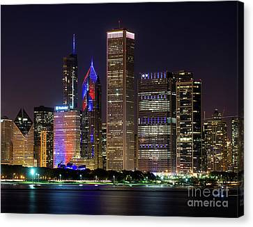 Go Cubs Go Canvas Print by Jeff Lewis