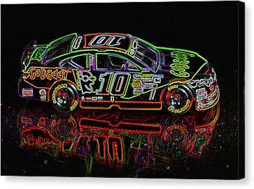 Go Daddy Nascar Stock Car Canvas Print by Bruce Roker