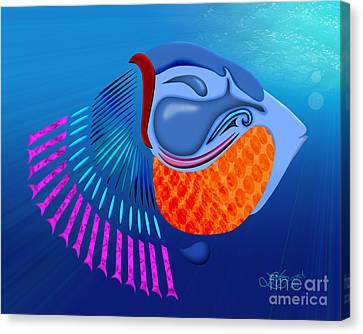 Go Fish Canvas Print by Linda Seacord