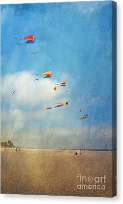 Canvas Print featuring the photograph Go Fly A Kite by David Zanzinger