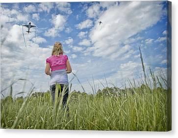 Go Fly A Kite Canvas Print by Steve Shockley