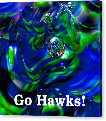 Go Hawks Canvas Print by David Patterson