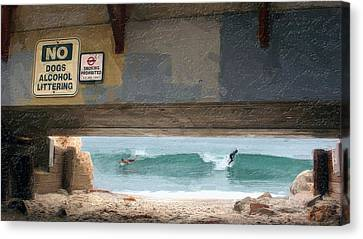 Go Right  Go Left Canvas Print by Ron Regalado